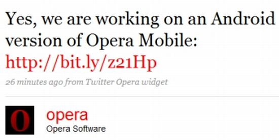 android specific opera mobile