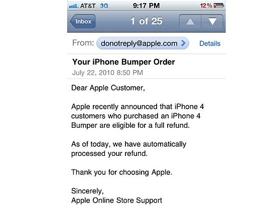 apple iphone 4 refund offer 1