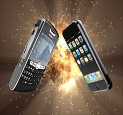 apple takes shot at blackberry