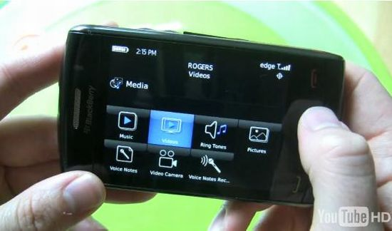 blackberry storm 9550 ii crackberry video leak