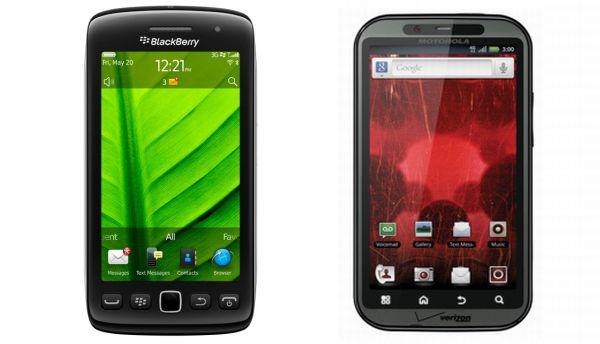 BlackBerry Torch 9850 vs. Motorola Droid Bionic