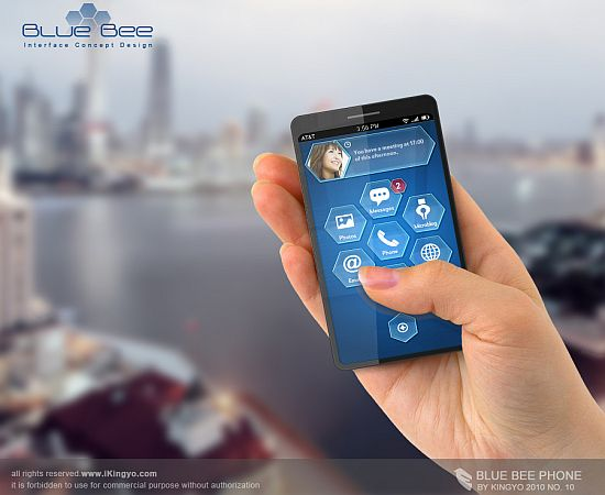 blue bee concept phone 1