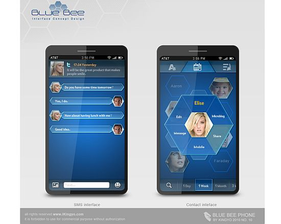 blue bee concept phone 2