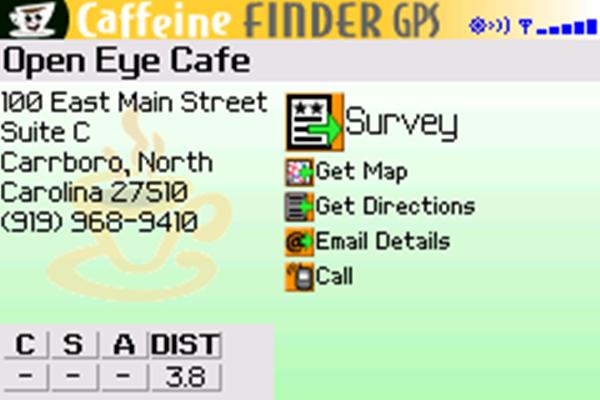 Caffeine finder