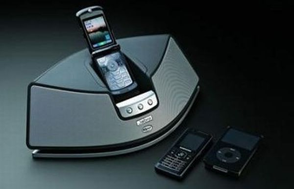 Cell-phone speaker dock