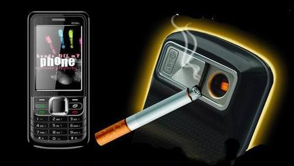 Cigarette lighter phone