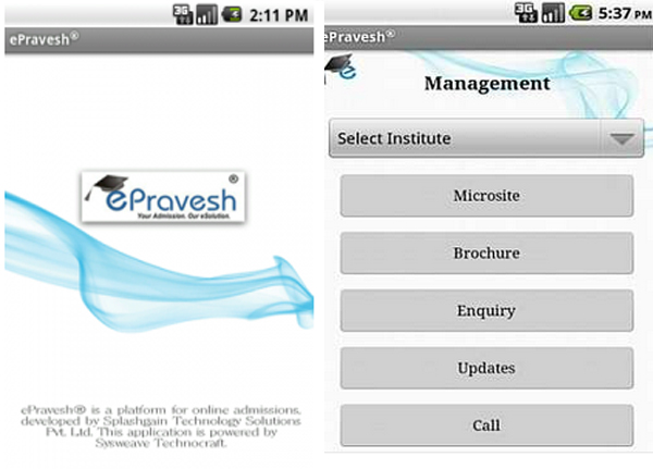 ePravesh app