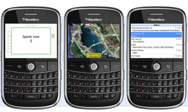 Google application for Blackberry