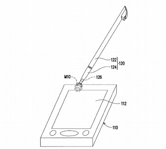 htc patent for stylus on a capacitive touch screen
