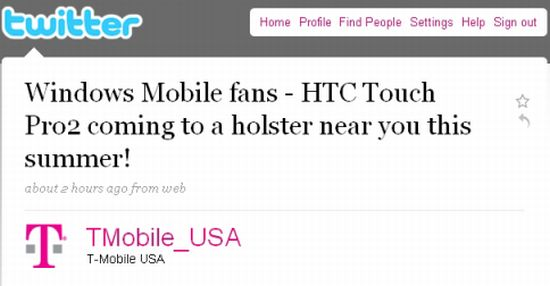 htc touch pro2 coming to tmobile soon