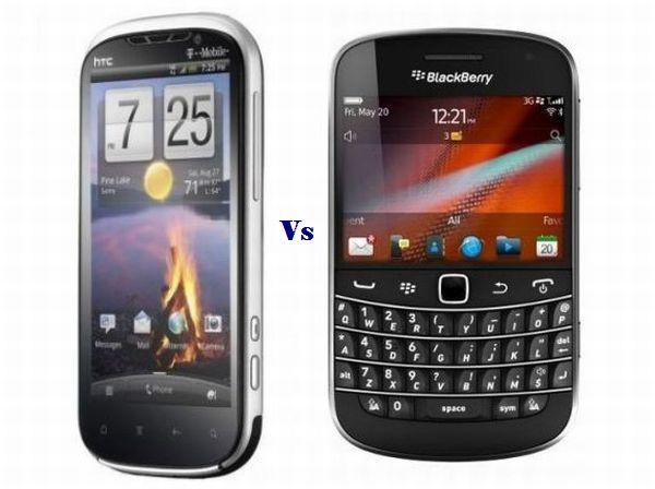 HTC Amaze 4G vs. BlackBerry Bold 9900