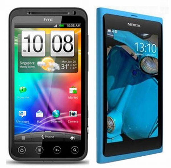 HTC Evo 3D vs. Nokia N9