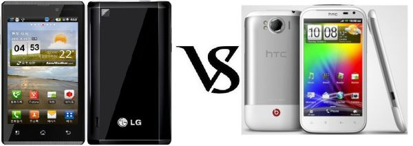 HTC Sensation XL vs LG Optimus EX