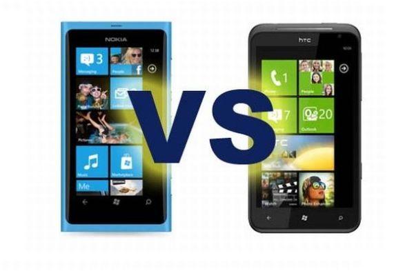 HTC Titan vs. Nokia Lumia 800