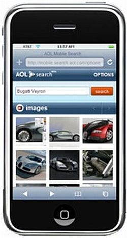 iphone with aol search 59
