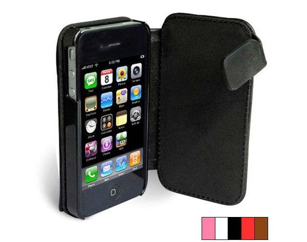 iPhone 4 Solar Charger Leather Case