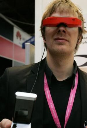mobile phones with projector glasses are cool