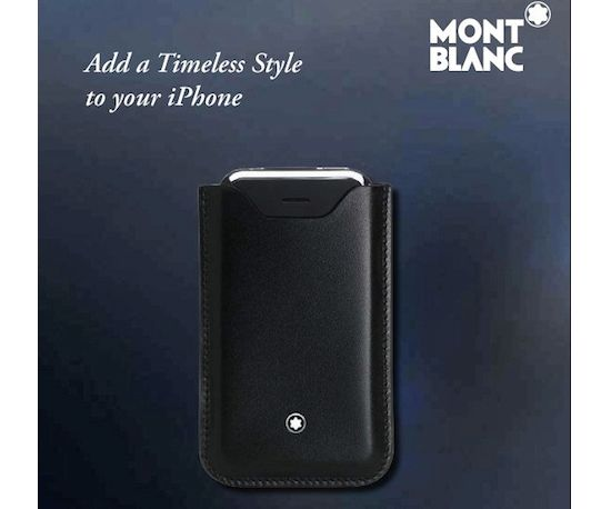 montblanck leather iphone pouch 1