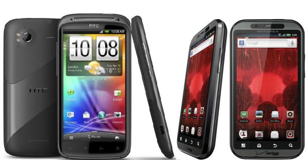 Motorola Droid Bionic vs. HTC Sensation