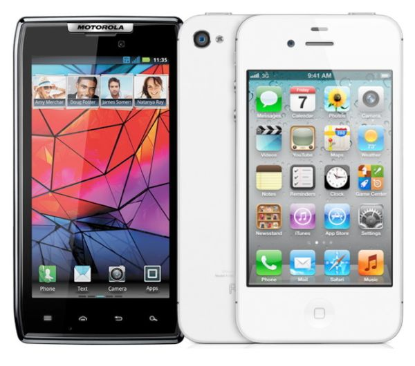 Motorola Droid Razr vs iPhone 4S