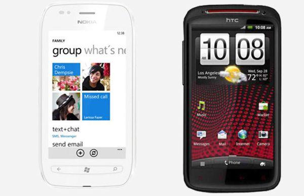 Nokia Lumia 710 vs. HTC Sensation XE
