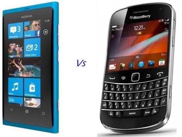 Nokia Lumia 800 vs. BlackBerry Bold 9900
