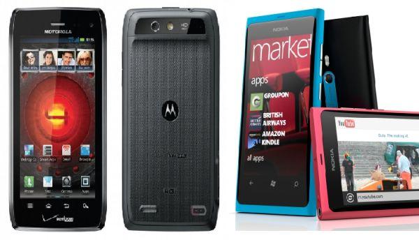 Nokia Lumia 800 vs. Motorola Droid 4