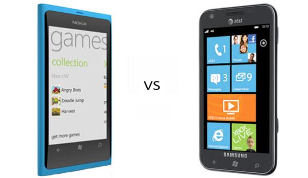 Nokia Lumia 800 vs Samsung Focus S