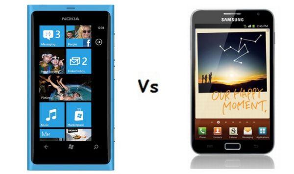 Nokia Lumia 800 vs. Samsung Galaxy Note