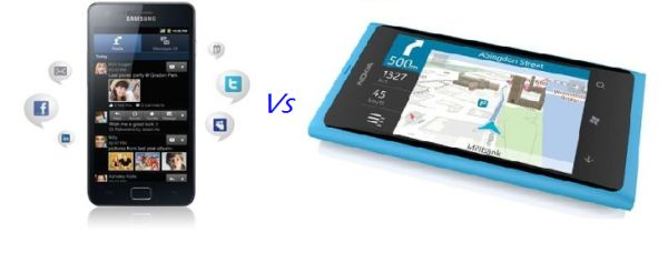 Nokia Lumia 800 vs Samsung Galaxy S II