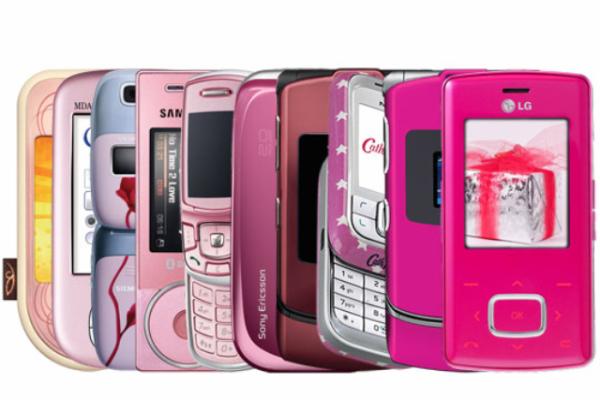 Pink cellphones