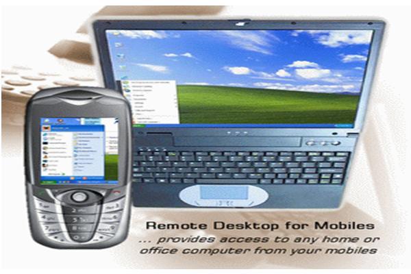 Remote desktop for mobile phones