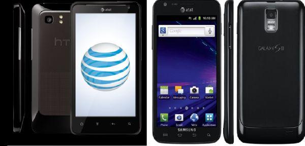 Samsung Galaxy S II Skyrocket vs. HTC Vivid
