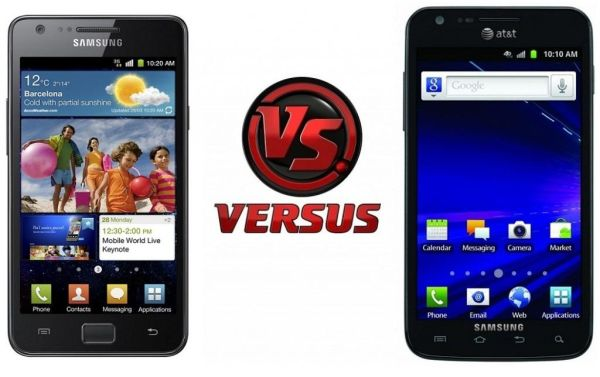 Samsung Galaxy S II vs. Galaxy S II Skyrocket