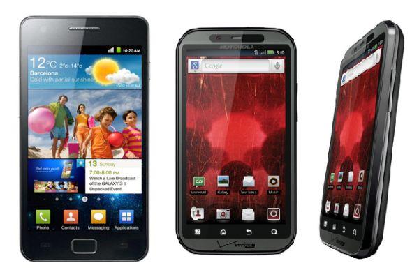 Samsung Galaxy S II vs Motorola Droid Bionic
