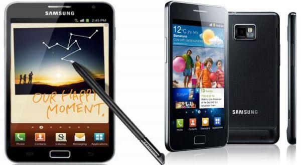 Samsung GalaxyS II vs Samsung Galaxy Note