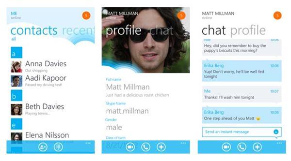 Skype For Windows Phone 7 Beta App