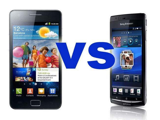Sony Ericsson Xperia Arc S vs. Samsung Galaxy S II