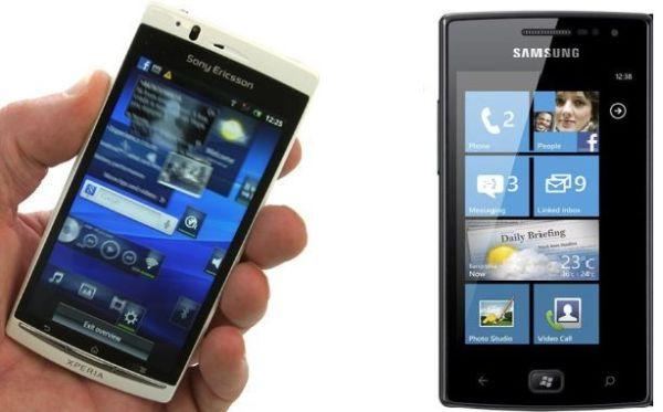 Sony Ericsson Xperia Arc S vs Samsung Omnia W