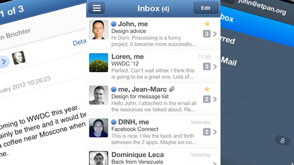 Sparrow email client for iOS