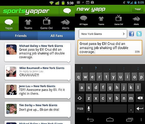 SportsYapper lets you yap about your favorite sports in real-time