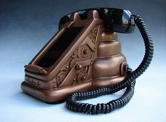 steampunk iphone handset 2