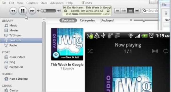 Sync iTunes to your Android cellphone