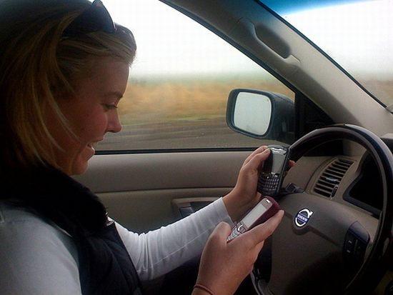 talking over the phone while driving touches new h