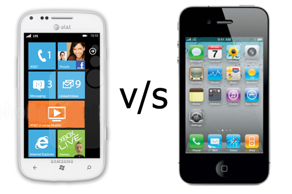 The Samsung focus 2 vs the Apple iPhone 4S