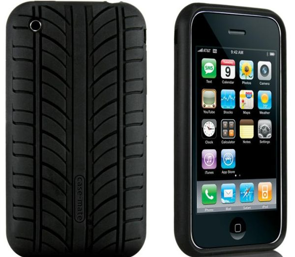 Tire-tread pattern iPhone case