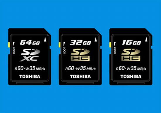 toshiba worlds fastest memory card 64gb sdxc 32 16