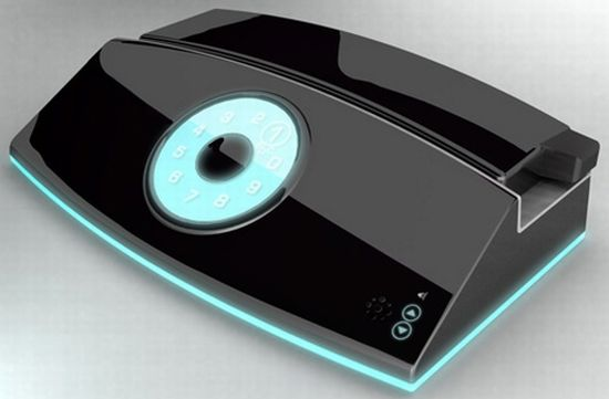 touch screen rotary concept phone 2