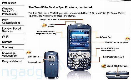 treo800w specs rgoPc 1333
