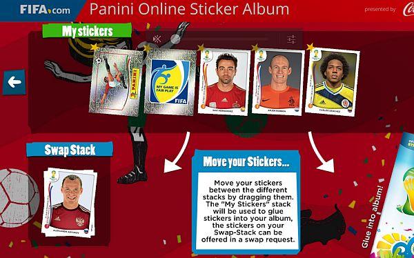 Panini Online Sticker Album app
